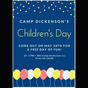 Children's day at camp dickenson