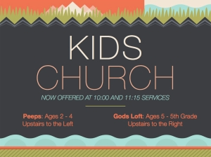 Kids Church Promo