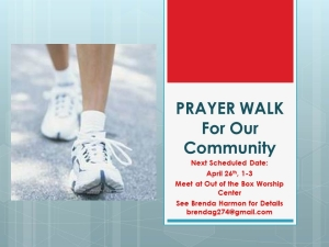 PRAYER WALK April