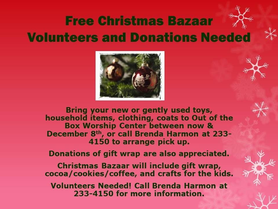 Free Christmas Bazaar red Volunteers JPEG
