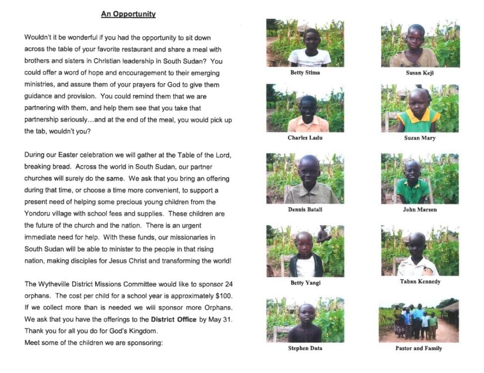 South Sudan Orphans