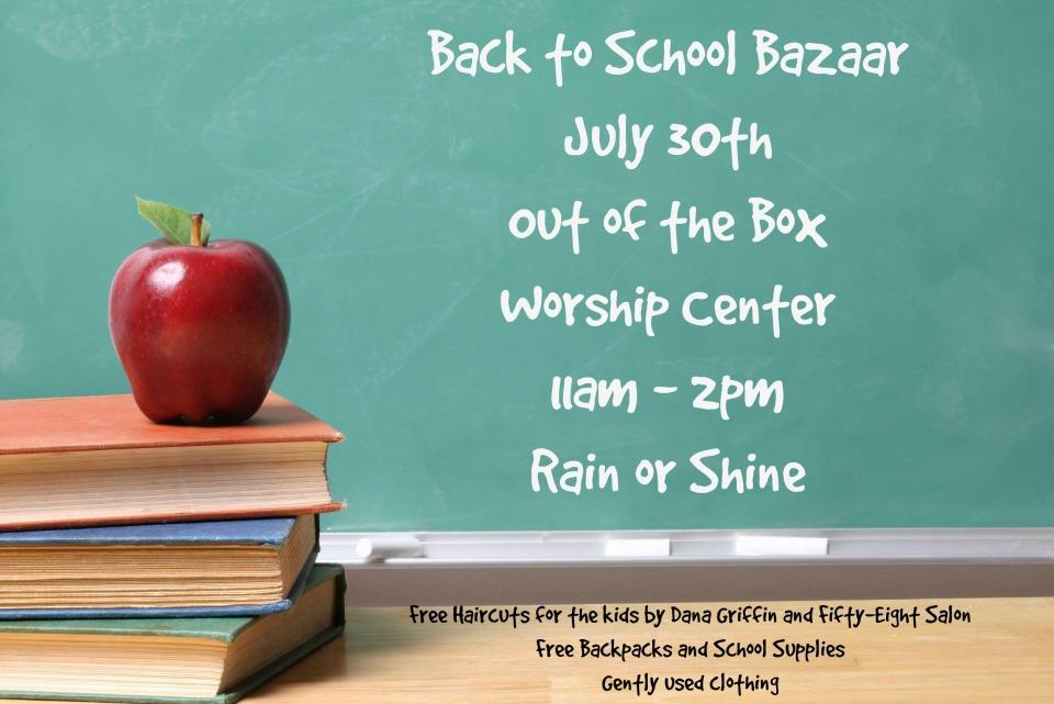 Back to School Bazaar Final